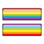 Gay Flag Equal Striped Sticker — Stock Vector
