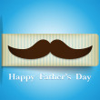 Happy Father Day Mustache Tag — Stok Vektör