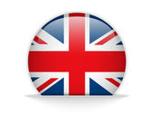 United Kingdom Flag Glossy Button — Stock Vector