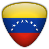 Venezuela Flag Glossy Button — Vector de stock