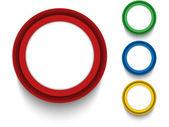 Set di icone dei pulsanti colorati — Vettoriale Stock