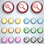 Vector - Magnifying Lens Button Set Icon Vector — Stock Vector