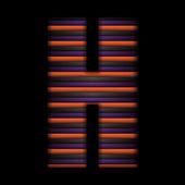 ハロウィーン アルファベット ストライプ ブラック オレンジ紫色のベクトル — ストックベクタ
