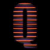 Halloween alfabetletters stripe zwart oranje paars vector — Stockvector
