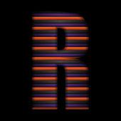 Halloween Alphabet Letters Stripe Black Orange Purple Vector — Stock Vector