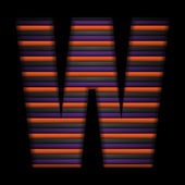 Halloween alphabet lettres stripe noir vector violet orange — Vecteur