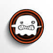 Stock Vector: Halloween Ghost Button Icon Stripe