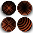 Halloween Button Icon Stripe — Vettoriale Stock #31079859