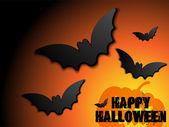 Halloween fledermaus-frame kürbis-hintergrund — Stockvektor