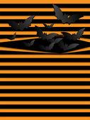 Halloween pozadí děsivé netopýři oranžová — Stock vektor