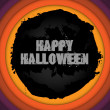 Halloween Background Circle Grunge — Stock Vector