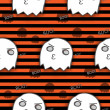 Halloween Ghost Seamless Pattern Background — Stok Vektör