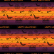 Halloween Ghost Bat Pumpkin Seamless Pattern Background — Imagen vectorial