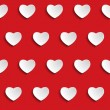 Valentine Day Heart Seamless Pattern Background — Stok Vektör
