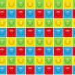 Seamless Colorful Buttons Pattern Background — Image vectorielle
