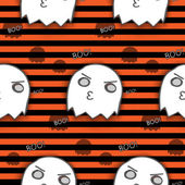 Halloween Ghost Seamless Pattern Background — Stock Vector
