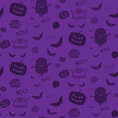 Halloween Seamless Pattern Background Purple — Stock Vector