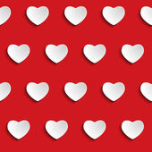 Valentine Day Heart Seamless Pattern Background — Vettoriale Stock