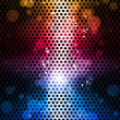 Colorful Rainbow Neon Party Background — Imagens vectoriais em stock
