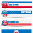 Government Shutdown USA Closed Banners. — Image vectorielle