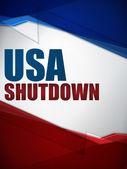 Shutdown Closed United States of America — Stock Vector