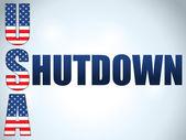 Shutdown United States of America — Stock Vector