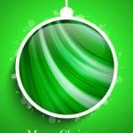 Merry Christmas Happy New Year Ball — Stock Vector
