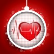 Merry Christmas Doctor Hospital Heart Ball — Stock Vector #33858895