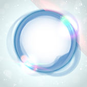 Modern Blue Circle Glowing Effects — Stock Vector