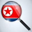 NSA USA Government Spy Program Country North Korea — Vector de stock