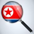 NSA USA Government Spy Program Country North Korea — Stock Vector