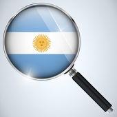 NSA USA Government Spy Program Country Argentina — Stock Vector