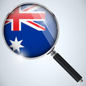Nsa vereinigte staaten regierung spion programm land australien — Stockvektor