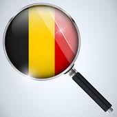 NSA USA Government Spy Program Country Belgium — Stock Vector