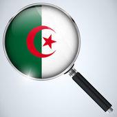 NSA USA Government Spy Program Country Algeria — Stock Vector