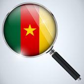 NSA USA Government Spy Program Country Cameroon — Stock Vector