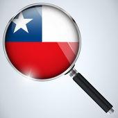 NSA USA Government Spy Program Country Chile — Stock Vector