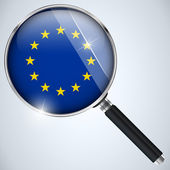 NSA USA Government Spy Program Country Europe — Stock Vector