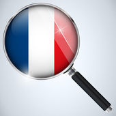 NSA USA Government Spy Program Country France — Stock Vector