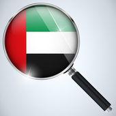 NSA USA Government Spy Program Country Emirates — Stock Vector