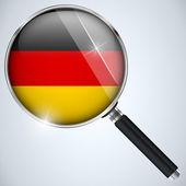 NSA USA Government Spy Program Country Germany — Stock Vector