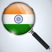 NSA USA Government Spy Program Country India — Stock Vector