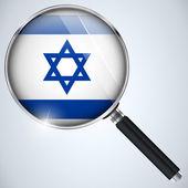 NSA USA Government Spy Program Country Israel — Stock Vector