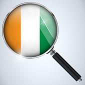 NSA USA Government Spy Program Country Ireland — Stock Vector