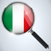 NSA USA Government Spy Program Country Italy — Stock Vector