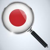 NSA USA Government Spy Program Country Japan — Stock Vector
