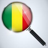 NSA USA Government Spy Program Country Mali — Stock Vector