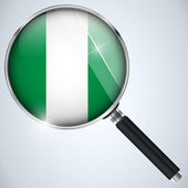 NSA USA Government Spy Program Country Nigeria — Stock Vector