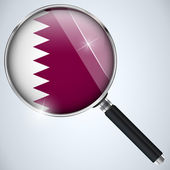 NSA USA Government Spy Program Country Qatar — Stock Vector