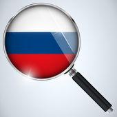 NSA USA Government Spy Program Country Russia — Stock Vector